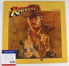 Harrison Ford Raiders Of Lost Ark Signed Album Cover W/ Vinyl PSA/DNA #J76857