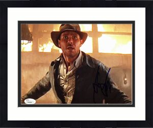 Harrison Ford Raiders of the Lost Ark Signed 8x10 Photo JSA #Y52341