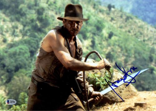 Harrison Ford Signed 11x14 Indiana Jones Poster Photo BAS Beckett RACC TS AFTAL