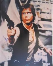 Harrison Ford Signed Authentic 16x20 Star Wars Psa/dna Full Loa