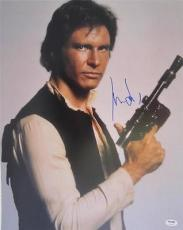 Harrison Ford Signed Authentic 16x20 Star Wars Psa/dna Full Loa A1