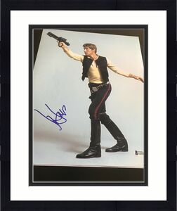 HARRISON FORD SIGNED AUTOGRAPH 11x14 PHOTO HANS SOLO STAR WARS BECKETT BAS COA M
