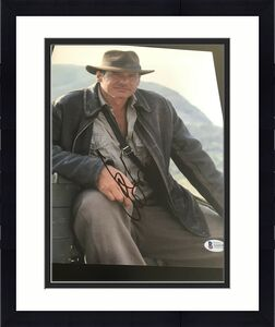 HARRISON FORD SIGNED AUTOGRAPH 11x14 PHOTO INDIANA JONES BECKETT BAS AUTO X3