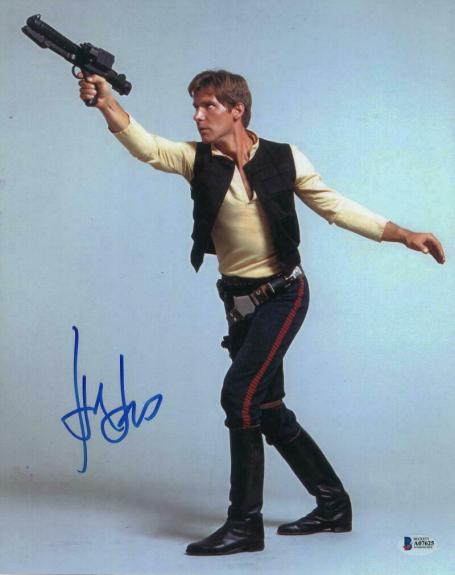 HARRISON FORD SIGNED AUTOGRAPH 11x14 PHOTO -INDIANA JONES, HAN SOLO, STAR WARS D