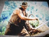 HARRISON FORD SIGNED AUTOGRAPH 11x14 PHOTO INDIANA JONES PROMO IN PERSON COA G
