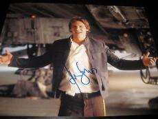 HARRISON FORD SIGNED AUTOGRAPH 11x14 PHOTO STAR WARS HANS SOLO ACTION SHOT X6