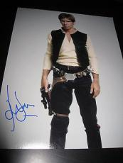 HARRISON FORD SIGNED AUTOGRAPH 11x14 PHOTO STAR WARS HANS SOLO ACTION SHOT X7