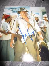 HARRISON FORD SIGNED AUTOGRAPH 8x10 PHOTO INDIANA JONES PROMO IN PERSON COA NY D