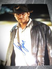 HARRISON FORD SIGNED AUTOGRAPH 8x10 PHOTO INDIANA JONES PROMO IN PERSON COA NY G