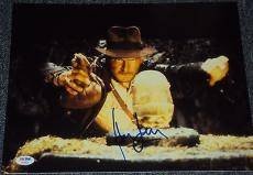 "Harrison Ford Signed Autograph ""indiana Jones"" Action 11x14 Photo Psa/dna V04602"