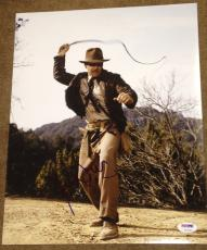 "Harrison Ford Signed Autograph ""indiana Jones"" Whip 11x14 Photo Psa/dna V14259"