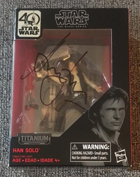 "Harrison Ford Signed Autograph ""star Wars"" Black Series Han Solo Figure Beckett"