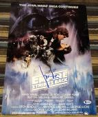 HARRISON FORD SIGNED AUTOGRAPH STAR WARS EMPIRE POSTER 12x18 PHOTO BAS BECKETT