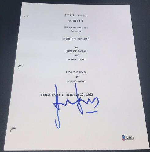 Harrison Ford Signed Autograph Star Wars Ep 6 Return Of Jedi Full Script Beckett