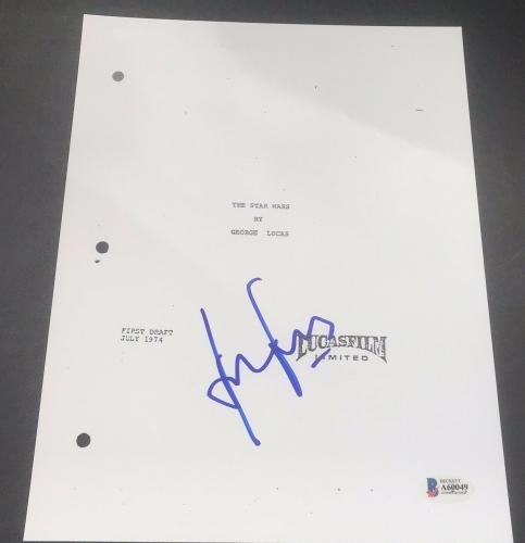 Harrison Ford Signed Autograph Star Wars Episode 4 New Hope Full Script Beckett