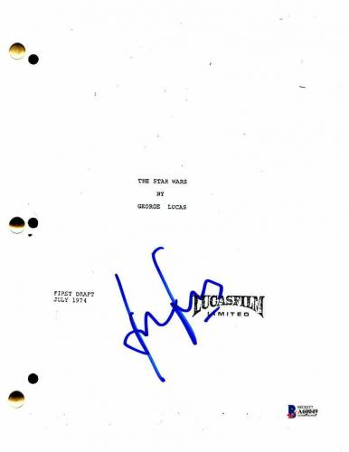 Harrison Ford Signed Autograph - Star Wars: Episode Iv - A New Hope Movie Script