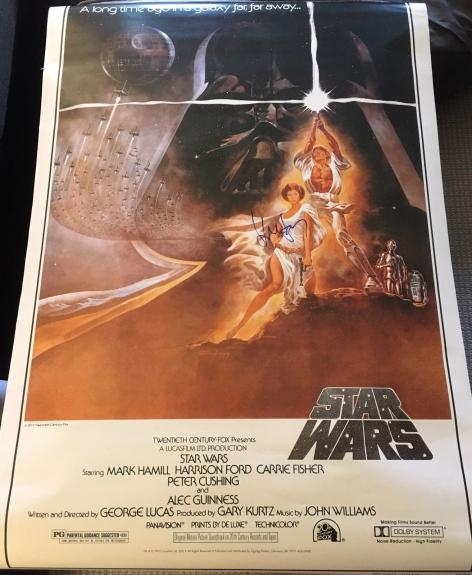 """HARRISON FORD SIGNED AUTOGRAPH """"STAR WARS"""" FULL SIZE 27x40 MOVIE POSTER BECKETT"""