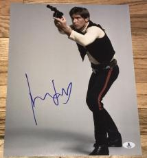 Harrison Ford Signed Autograph Star Wars Han Solo Promo 11x14 Photo Bas Beckett