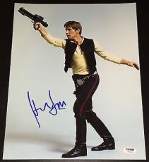 "Harrison Ford Signed Autograph ""star Wars"" Hans Promo 11x14 Photo Psa/dna V04605"