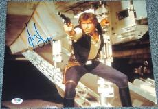 "Harrison Ford Signed Autograph ""star Wars"" Hans Solo 11x14 Photo Psa/dna V04601"
