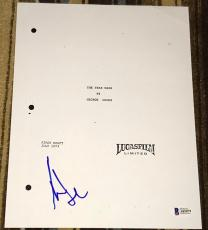 Harrison Ford Signed Autograph Star Wars New Hope Full Movie Script Bas Beckett