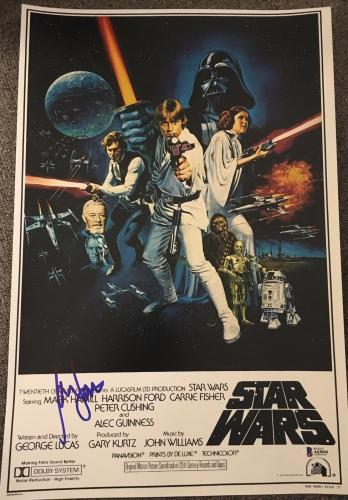 HARRISON FORD SIGNED AUTOGRAPH STAR WARS ORIGINAL POSTER 12x18 PHOTO BAS BECKETT