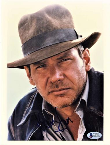 Harrison Ford Signed Autographed 8x10 Indiana Jones Photo Beckett BAS