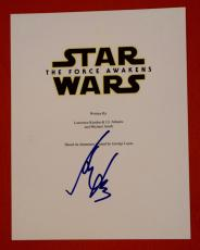 Harrison Ford Signed Autographed Star Wars The Force Awakens Full Movie Script