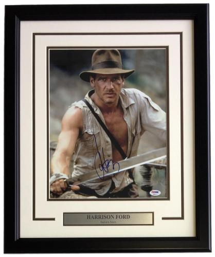 Harrison Ford Signed Framed 11x14 Indiana Jones Photo PSA U05017