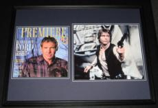 Harrison Ford Signed Framed Han Solo 18x24 Photo Display JSA Star Wars