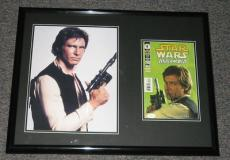 Harrison Ford Signed Framed Han Solo 18x24 Poster Photo Display JSA Star Wars
