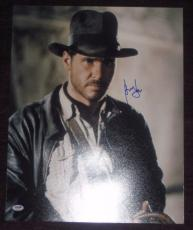 HARRISON FORD Signed INDIANA JONES 16 x 20 PHOTO w/ PSA LOA GRADED 10