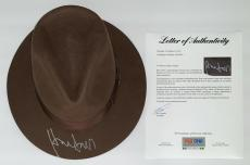 Harrison Ford Signed Indiana Jones Authentic Hat Psa Loa Ad03210