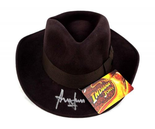 Harrison Ford Signed Indiana Jones Officially Licensed Brown Wool Felt Fedora Hat