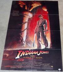 HARRISON FORD Signed Indiana Jones Temple of Doom Full Size Movie Poster PSA/DNA