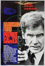 "Harrison Ford Signed ""patriot Games"" Movie Poster Psa/dna Coa G76716"