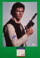 """Harrison Ford Signed Psa/dna Authenticated Coa Han Solo Star Wars 11""""x14"""" Photo"""