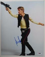 Harrison Ford Signed Star Wars Authentic Autographed 11x14 Photo(PSA/DNA)