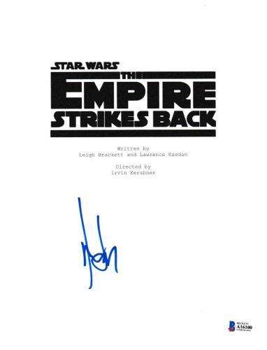 Harrison Ford Signed Star Wars Empire Strikes Back Script Beckett Bas Autograph