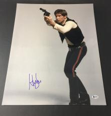 HARRISON FORD SIGNED STAR WARS 'HAN SOLO' 16x20 MOVIE POSTER BAS COA BECKETT