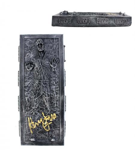 Harrison Ford Signed Star Wars The Empire Strikes Back Han Solo Encased In Carbonite Figure