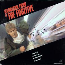 Harrison Ford Signed The Fugitive Laserdisc Cover w/ Disc BAS #A02051