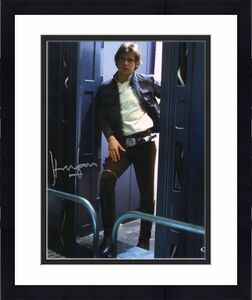 """Harrison Ford Star Wars Autographed 16"""" x 20"""" At Doorway Photograph - BAS"""