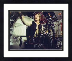 """Harrison Ford Star Wars Autographed 16"""" x 20"""" Han Solo vs. Greedo Photograph"""