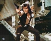 """Harrison Ford Star Wars Autographed 16"""" x 20"""" Shooting Photograph - BAS"""