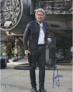 """Harrison Ford Star Wars Autographed 16"""" x 20"""" The Force Awakens Photograph - BAS"""