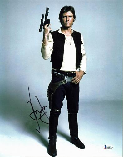 Harrison Ford Star Wars Han Solo Signed 11x14 Photo BAS #A84714