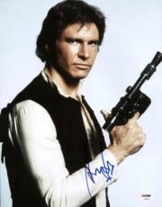 Harrison Ford Star Wars Signed 11x14 Photo Autographed Psa/dna #v09652