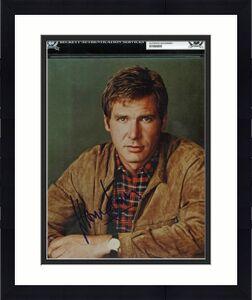 Harrison Ford Star Wars Signed 1990's Vintage Full Name! 8x10 Photo BAS Slabbed