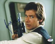 Harrison Ford Star Wars Signed 8X10 Photo Auto Graded Perfect 10! PSA #U01297